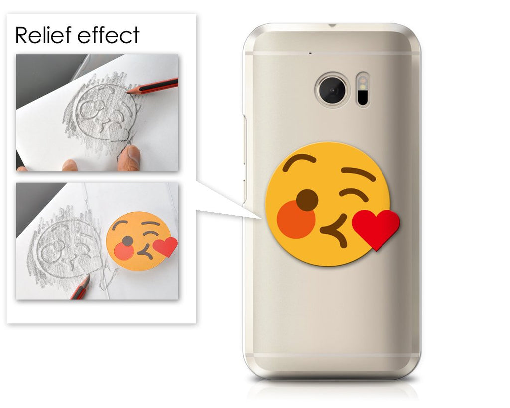 Emoji Series HTC 10 Case - Kissing Wink