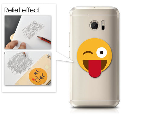 Emoji Series HTC 10 Case - Tongue-Out Wink