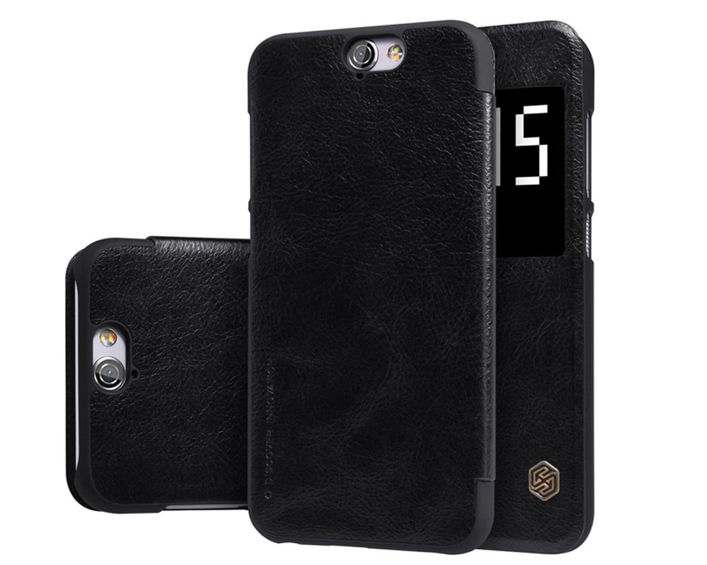 Eyelet Pro Series HTC One A9 Flip Leather Case - Black