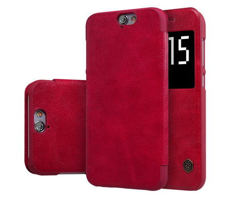 Eyelet Pro Series HTC One A9 Flip Leather Case - Red