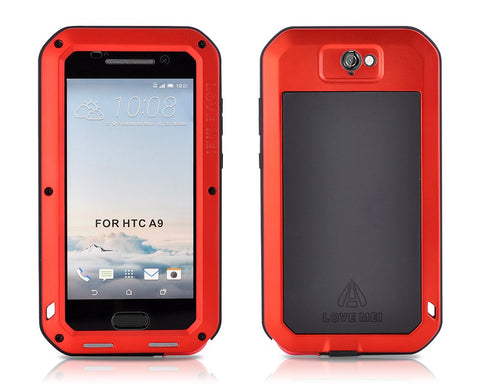 Waterproof Series HTC One A9 Metal Case - Red