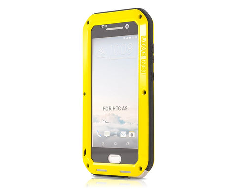Waterproof Series HTC One A9 Metal Case - Yellow