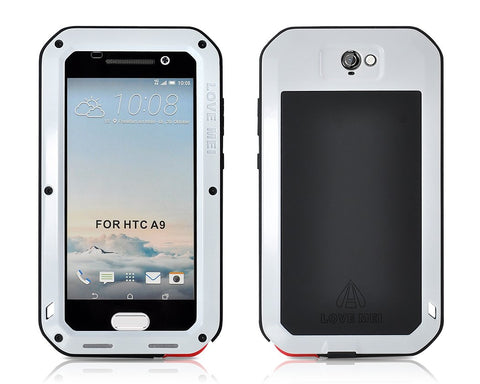 Waterproof Series HTC One A9 Metal Case - Silver