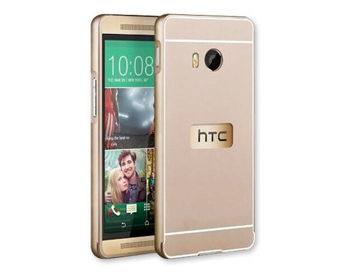 Stylish Bumper Series HTC One M9 Aluminum Case - Gold