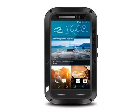 Waterproof Series HTC One M9 Metal Case - Black