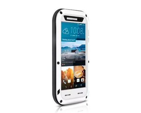 Waterproof Series HTC One M9 Metal Case - White