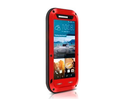 Waterproof Series HTC One M9 Metal Case - Red