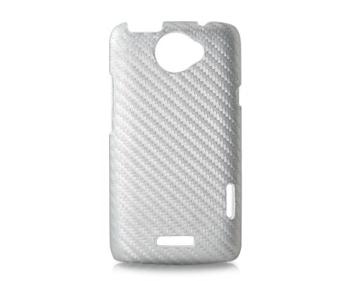 Twill Series HTC One X Leather Case - Silver