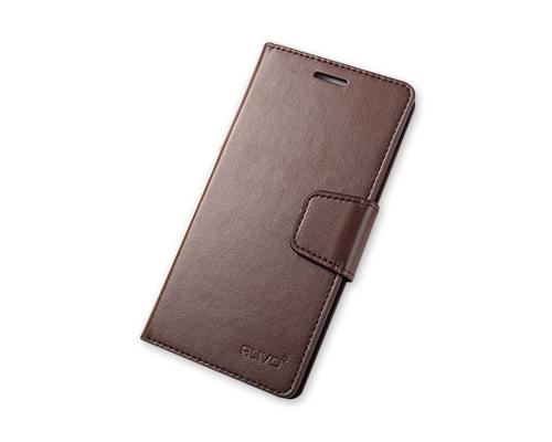 Fold Series Huawei P8 Flip Leather Case - Coffee
