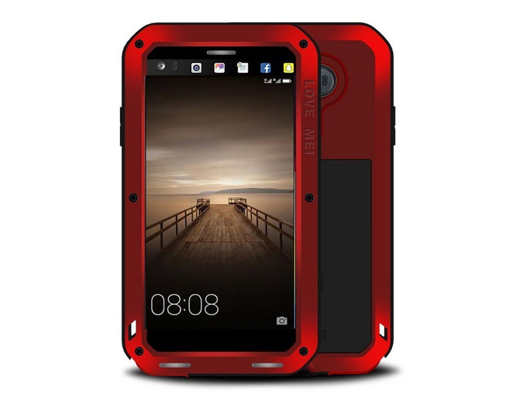 Shockproof Series Huawei Mate 9 Metal Case - Red
