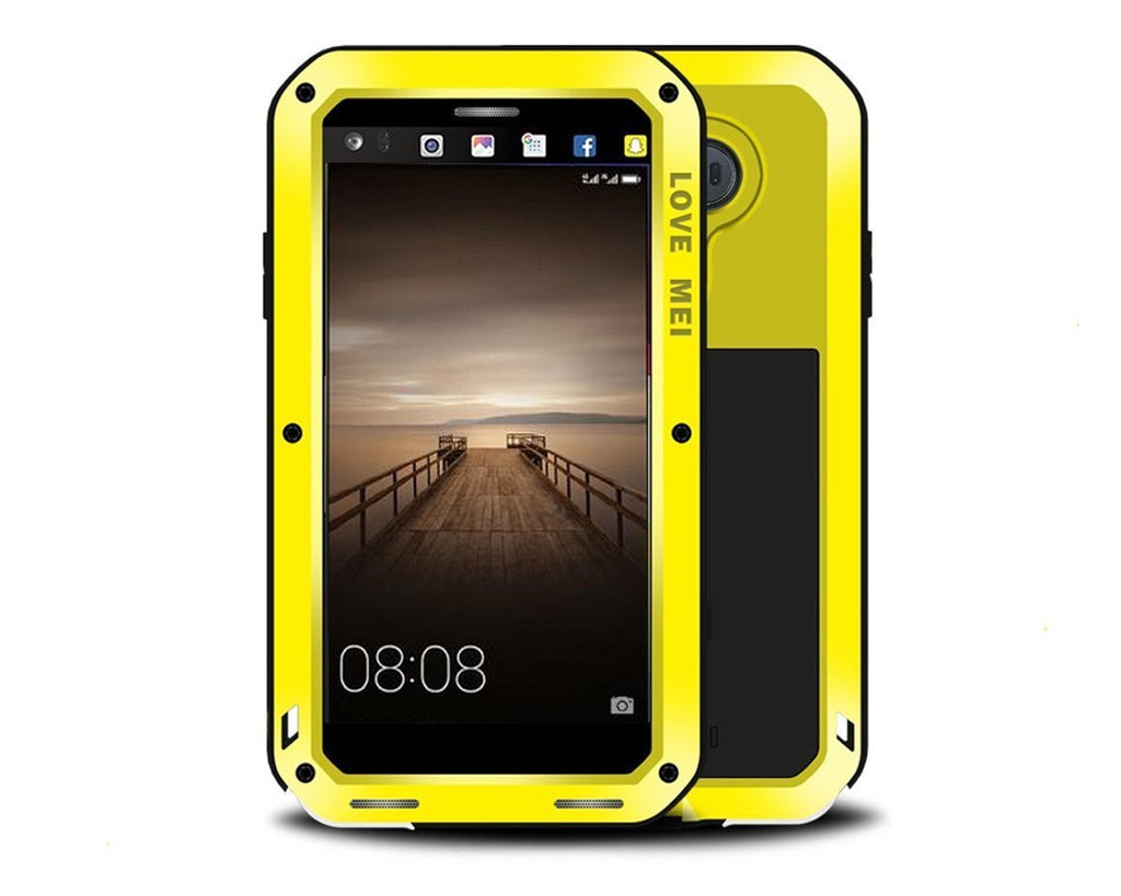 Shockproof Series Huawei Mate 9 Metal Case - Yellow