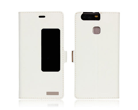 Smart Series Huawei P9 Genuine Leather Case - White