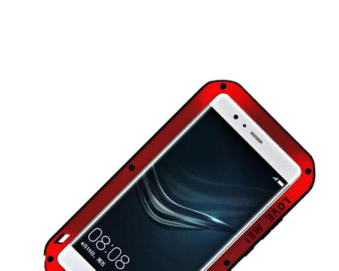 Waterproof Series Huawei P9 Metal Case - Red