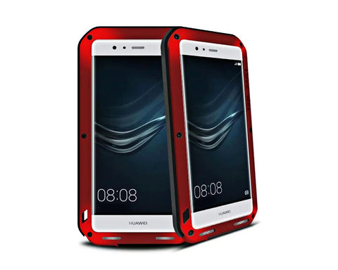 Waterproof Series Huawei P9 Plus Metal Case - Red