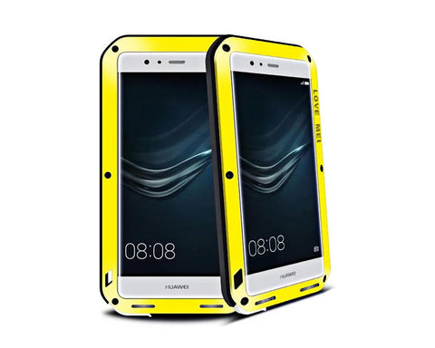 Waterproof Series Huawei P9 Plus Metal Case - Yellow