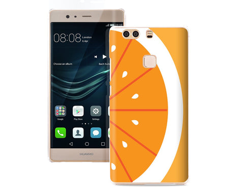 Fruit Series TPU Bumper and PC Hard Huawei P9 Plus Case - Orange