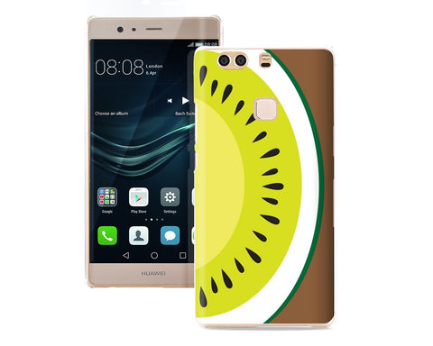 Fruit Series TPU Bumper and PC Clear Hard Huawei P9 Plus Case - Kiwi
