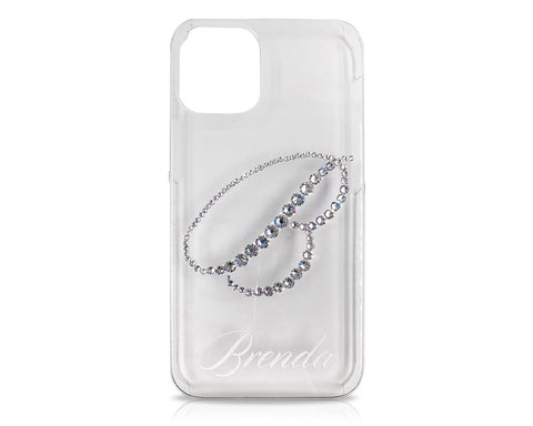 Alphabet Bling Swarovski Crystal iPhone 12 Case