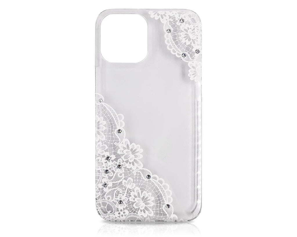 Lace Floral Bling Swarovski Crystal iPhone 12 Case