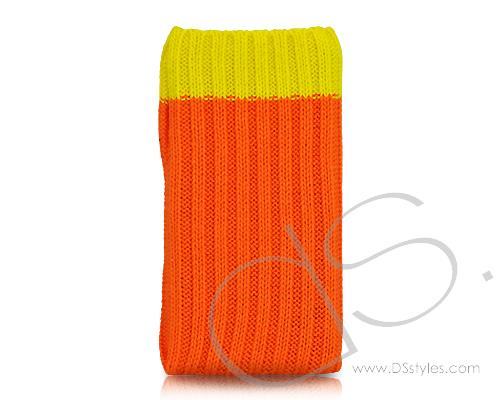 Socker Series iPhone 4 and 4S Soft Pouch Case - Orange