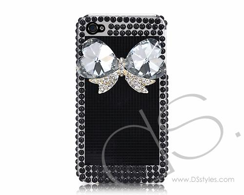 Mystic Series iPhone 4 and 4S 3D Crystal Case - Heart Ribbon
