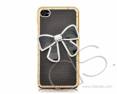Brisk Bow Series iPhone 4 and 4S Case - Black