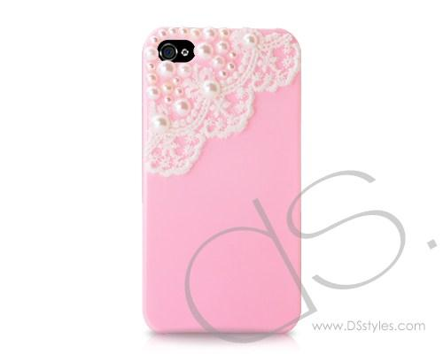 Lace Pearl Series iPhone 4 and 4S Case - Pink