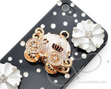 3D Pumpkin Series iPhone 4 and 4S Crystal Case - Black White