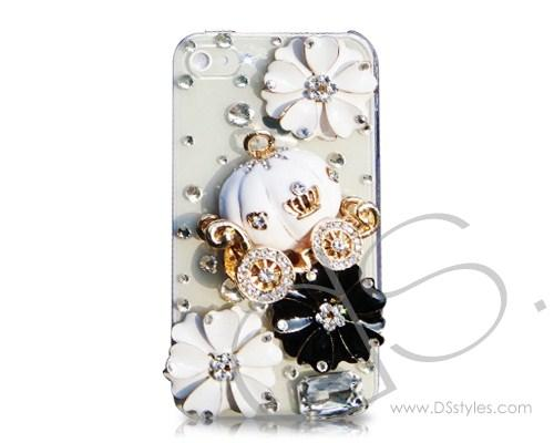 3D Pumpkin Series iPhone 4 and 4S Crystal Case - White