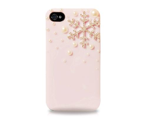 3D Snowflake Series iPhone 4 and 4S Case - Pink