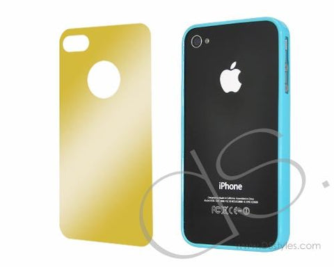 Bumper-Slim Series iPhone 4 and 4S Case - Blue