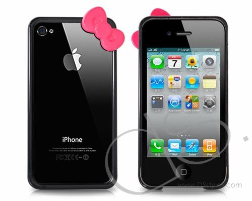 Bow Series iPhone 4 and 4S Bumper Case - Black