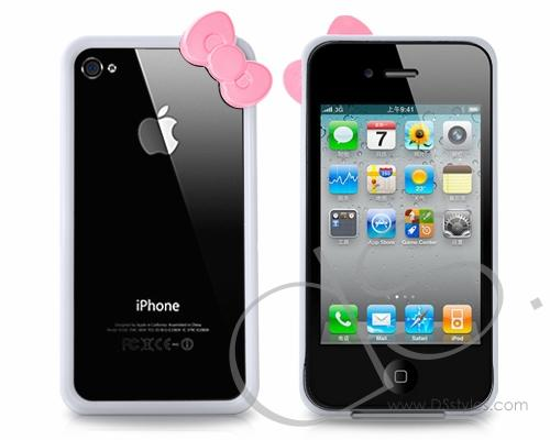 Bow Series iPhone 4 and 4S Bumper Case - White