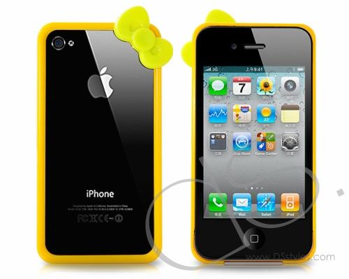 Bow Series iPhone 4 and 4S Bumper Case - Yellow