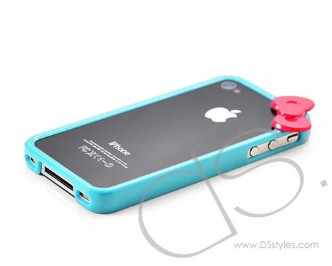 Bow Series iPhone 4 and 4S Bumper Case - Ice Blue