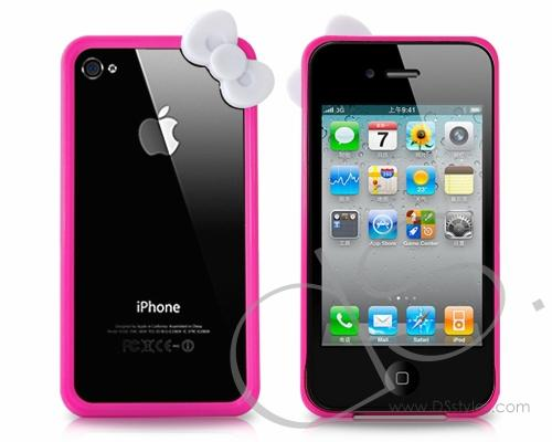 Bow Series iPhone 4 and 4S Bumper Case - Magenta