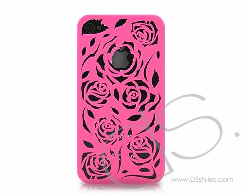 Rose Rear Series iPhone 4 and 4S Case - Magenta