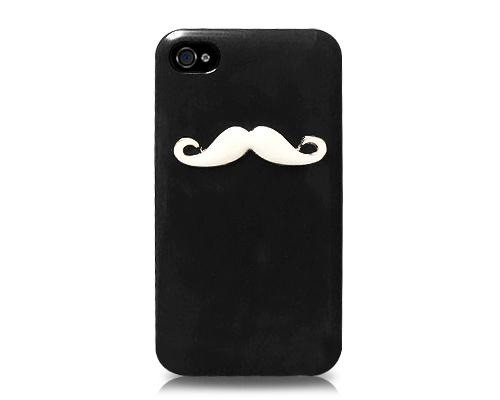 3D Mustache Series iPhone 4 and 4S Case - Black