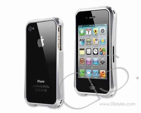 Element Series iPhone 4 and 4S Aluminum Bumper Case - Silver