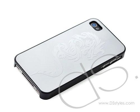 Relief Series iPhone 4 and 4S Stainless Steel Case - Silver Dragon