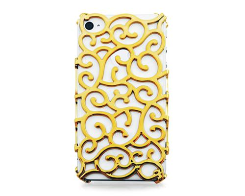 Hollow Vine Series iPhone 4 and 4S Electroplate Case - Gold