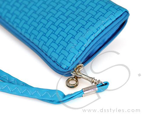 Zipper Series Leather Pouch iPhone 5 and 5S Case - Blue