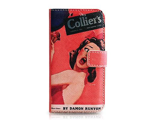 Stylish Series iPhone 4 and 4S Flip Leather Case - Sexy Lady