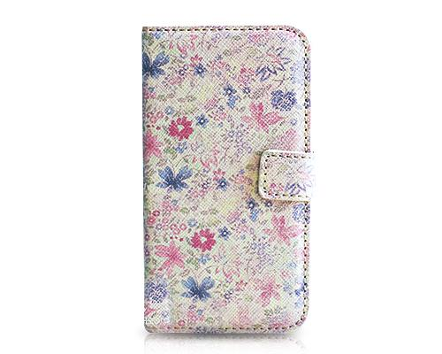 Stylish Series iPhone 4 and 4S Flip Leather Case - Blossom