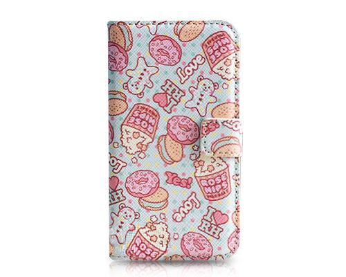 Stylish Series iPhone 4 and 4S Flip Leather Case - Snack