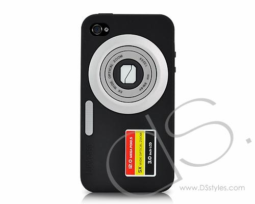 Camera Series iPhone 4 Silicone Case - Black