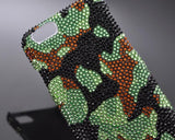 Pattern Camouflage Bling Swarovski Crystal Phone Cases