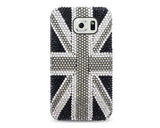 United Kingdom Bling Swarovski Crystal Phone Cases - Black