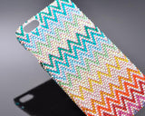 Pattern Wave Bling Swarovski Crystal Phone Cases - Colorful