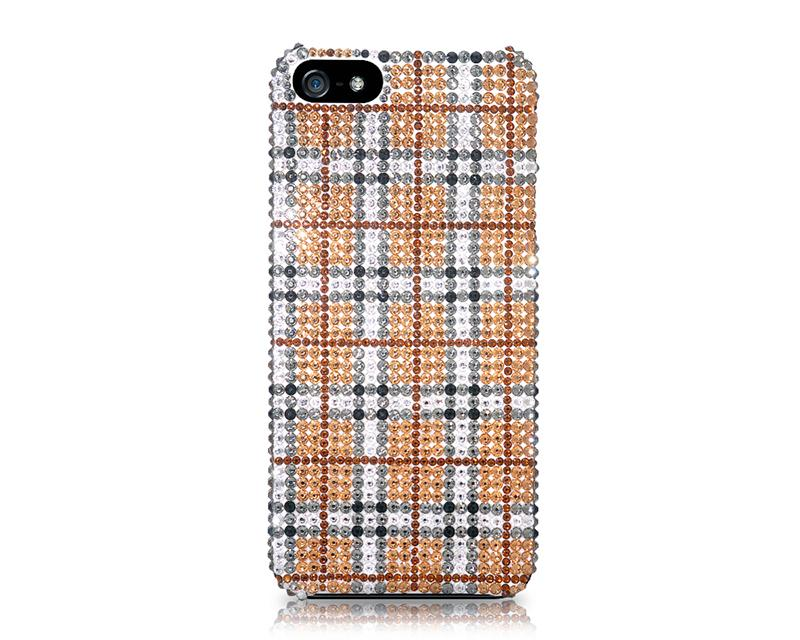 Pattern Tartan Bling Swarovski Crystal Phone Cases
